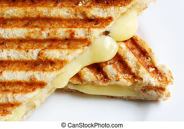 Grilled Cheese Sandwich - A grilled sandwich of melting...