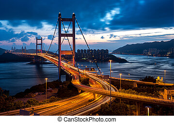 Tsing Ma Bridge in Hong Kong