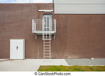The emergency stairs