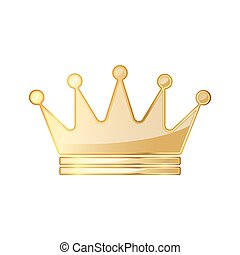 Golden crown icon. Vector illustration. Golden crown symbol...