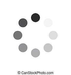 Load icon. Vector illustration. - Gray download sign...