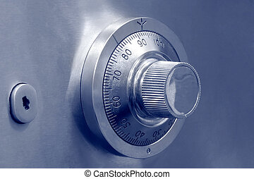 Combination safe lock and key lock - Combination dial safe...