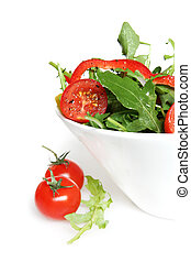 Tossed Salad - Tossed green salad with cherry vine tomatoes,...