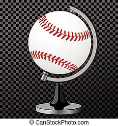 Vector baseball. Baseball globe isolated over transparent...