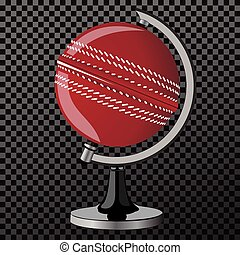 Vector criket. Criket globe isolated over transparent...