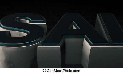 Metal 3D Text SALE with reflection and light