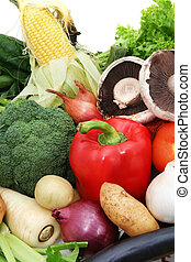 Vegetables - A selection of fresh, healthy vegetables....
