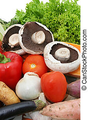 Fresh Veggies - A variety of fresh vegetables ~ curly...