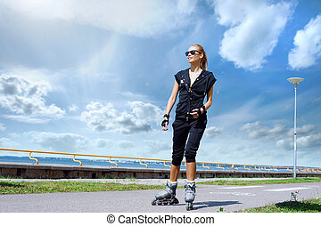 Fit, sporty and athletic young woman. Beautiful girl...