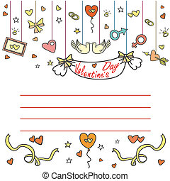 Valentine's Day greeting card with space for text,...