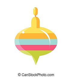 Colorful Whirligig Toy , Object From Baby Room, Happy Childhood Cute Illustration