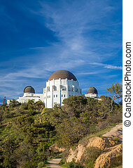 Historic Griffith Observatory in the Hollywood Hills of Los...