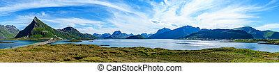 Lofoten archipelago panorama - Lofoten is an archipelago...