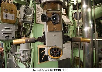 vendimia, periscopio, Submarino