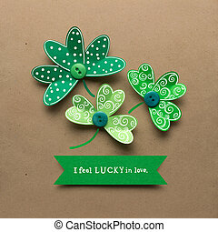 Good luck. - Creative St. Patricks Day concept photo of...