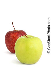 Two Apples - Two apples ~ a red delicious and a golden...