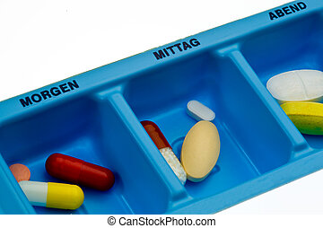 Tablets - Many different pills and drugs in box