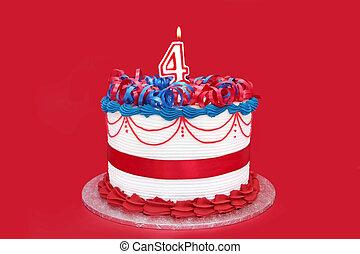 Number 4 Cake