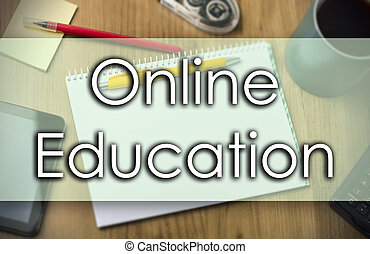 Online Education - business concept with text