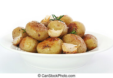 Roasted Potatoes - Roasted baby potatoes, with garlic,...