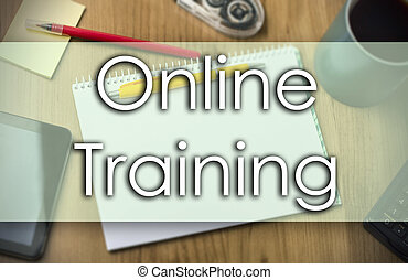 Online Training - business concept with text