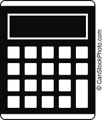 Office, school electronic calculator icon. Simple...