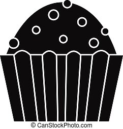 Cup cake icon, simple style - Cup cake icon. Simple...