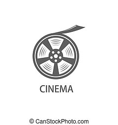 film reel icon. cinematic theme vector illustration