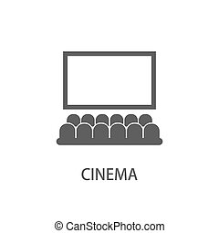 Hall of cinema - cinematic theme. Vector illustration of...