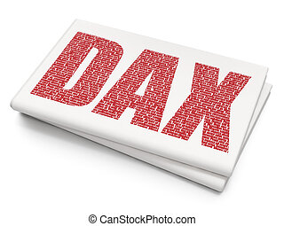 Stock market indexes concept: DAX on Blank Newspaper...