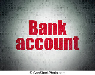 Banking concept: Bank Account on Digital Data Paper...