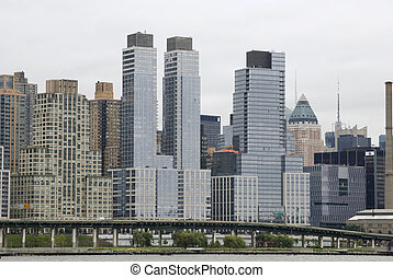 West Side Highway - A view of the West Side Highway and...