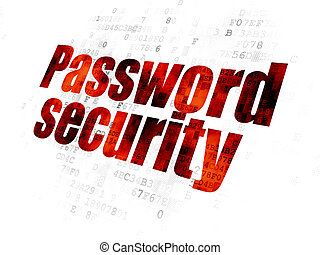 Safety concept: Password Security on Digital background