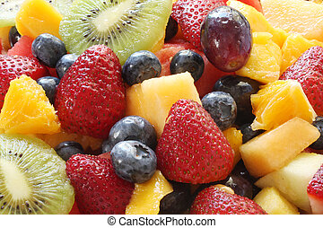Fruit Salad -  Delicious fruit salad in close-up.