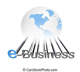 E-Business - An illustration of three dimensional e-business...