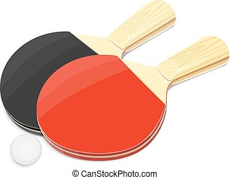 Pair of Table tennis racket and ball