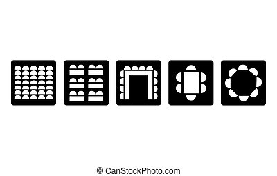 Pictogram - Room setup, Seating, Seats, - Object, Icon,...