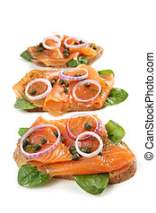 Smoked Salmon Appetizer - Smoked salmon appetizer. Smoked...