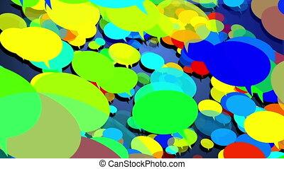 Colorful speech bubbles - A lot of colorful speech bubbles...