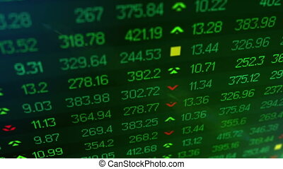 """Animation of Stock market price ticker board "" - ""Animation..."