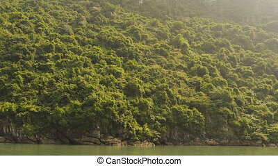 Mountain Ha Long Bay. North Vietnam. (Shot in 4K -...