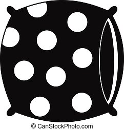 Pillow with dots icon, simple style - Pillow with dots icon....