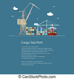 Cargo Seaport with Container Ship - Seaport with Container...