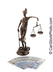 justice and franks. symbol for legal costs - justice with...
