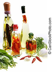 Infused Oils and Preserves - Oil infusions and preserved...