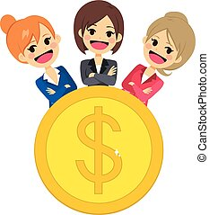 Successful Women Empowered - Group of successful empowered...