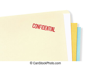 Confidential File Folder - Manila file folder stamped...