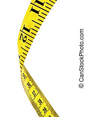 Tape Measure (with Path) - Yellow tape measure, in macro,...