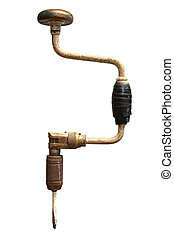 Vintage Hand Drill - Vintage hand drill, fitted with...