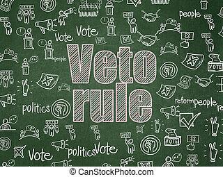 Politics concept: Veto Rule on School board background -...